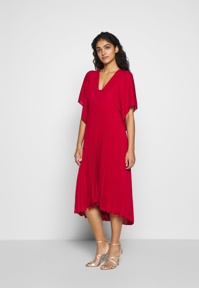FINE - Day dress - dark red