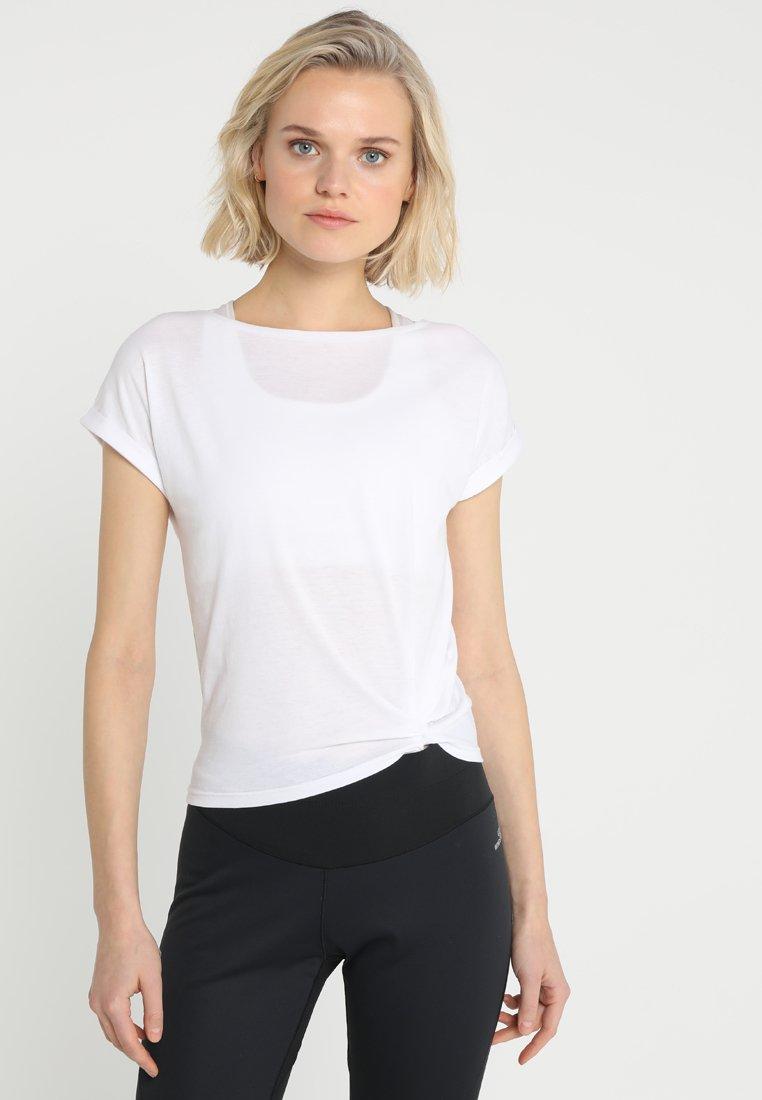 Icepeak - VIIU - T-Shirt print - white/gold