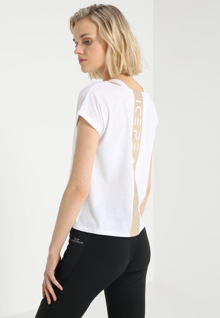 Icepeak VIIU - T-shirt imprimé white/gold