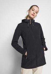 Icepeak - PELION - Soft shell jacket - black melange - 0
