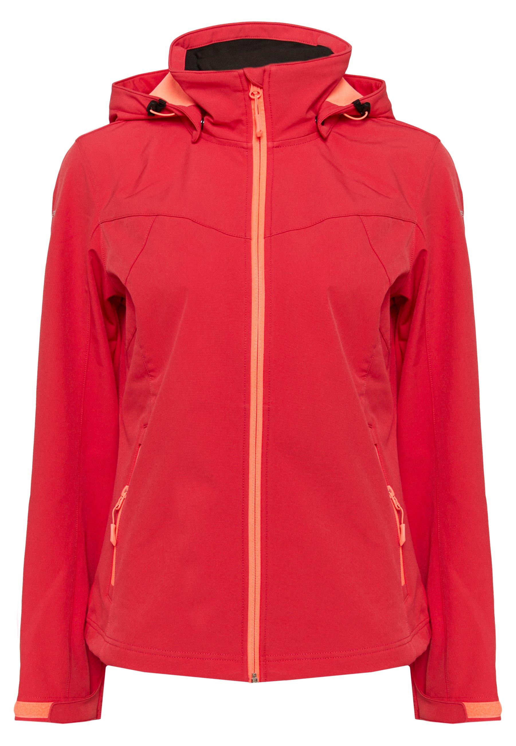 BOISE Softshell jakker coral red
