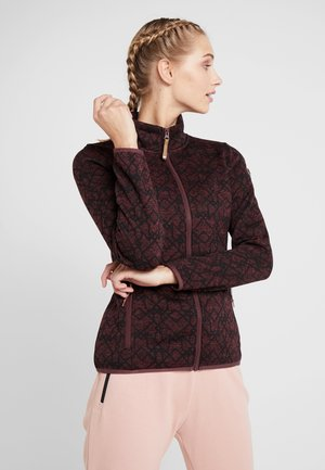 ABBYVILLE - Fleece jacket - wine