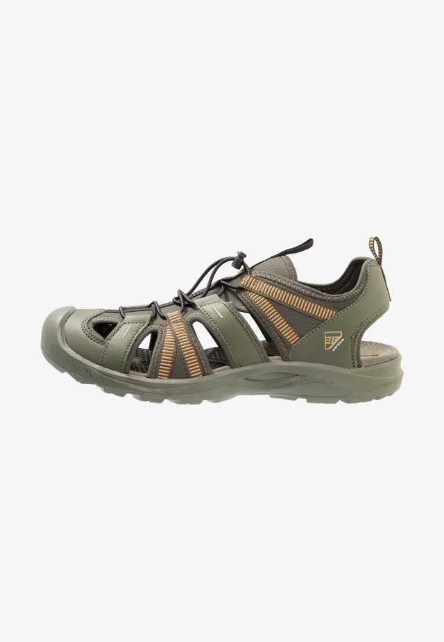AKSU MR - Walking sandals - dark green