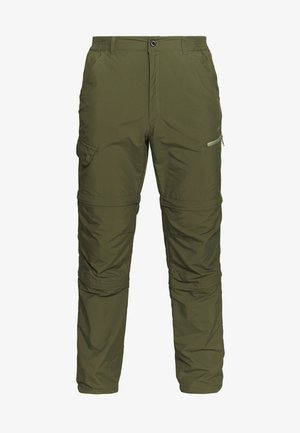 BECKLEY 2-IN-1 - Pantalones montañeros largos - dark olive