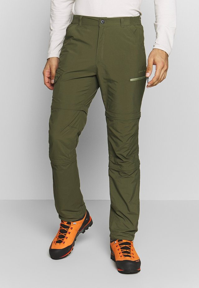 BECKLEY 2-IN-1 - Outdoor trousers - dark olive