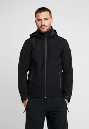 LUKAS - Softshelljacke - black