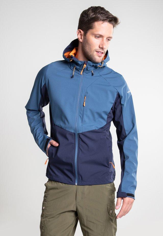 BARNES - Soft shell jacket - dark blue