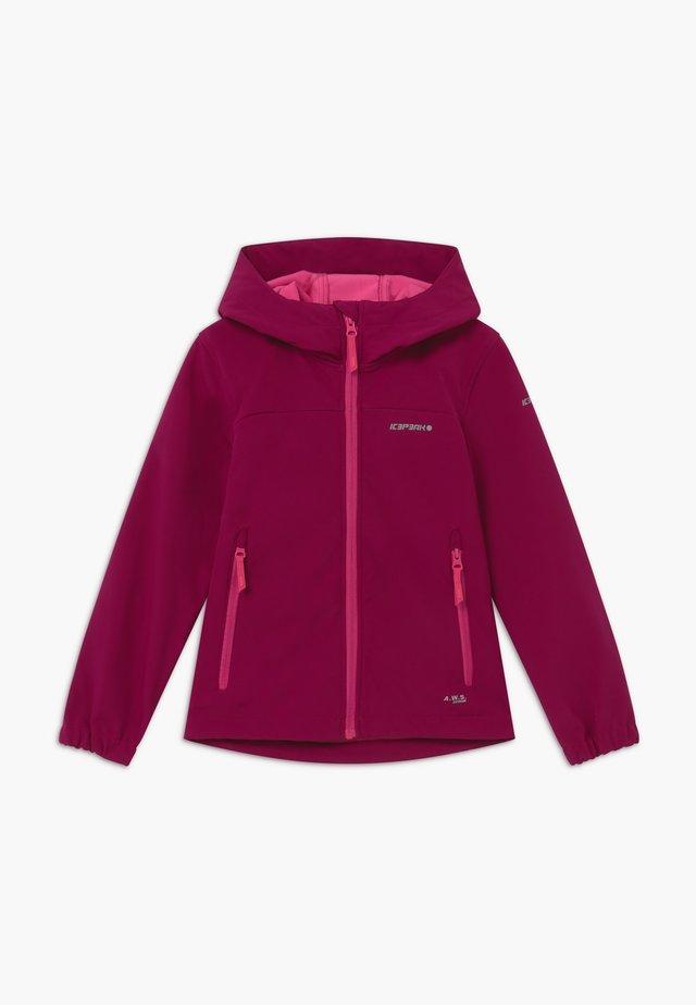 KAPPELN - Soft shell jacket - amethyst