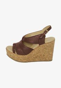 ICHI - High heeled sandals - brown - 1