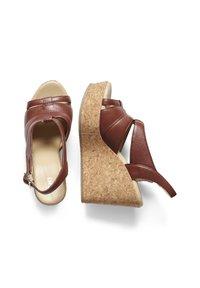ICHI - High heeled sandals - brown - 2