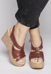 ICHI - High heeled sandals - brown - 0