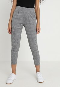 ICHI - KATE CHECK - Pantalon classique - black - 0