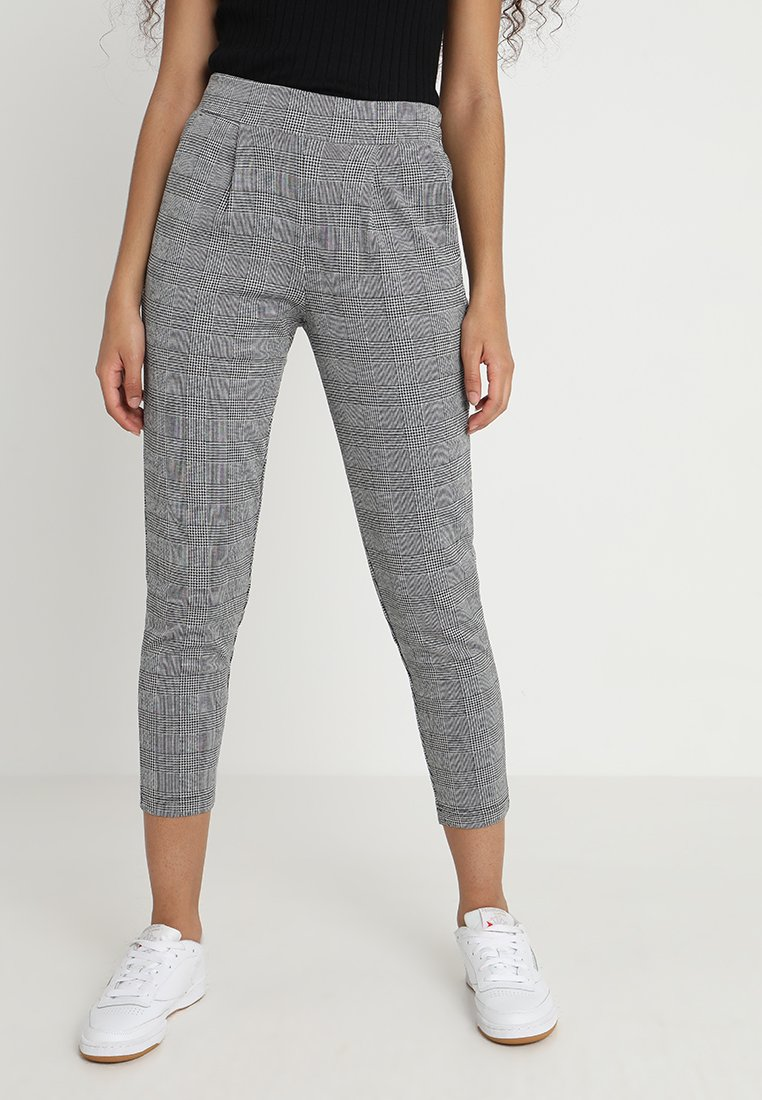 ICHI - KATE CHECK - Pantalon classique - black