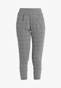 ICHI - KATE CHECK - Pantalon classique - black - 4