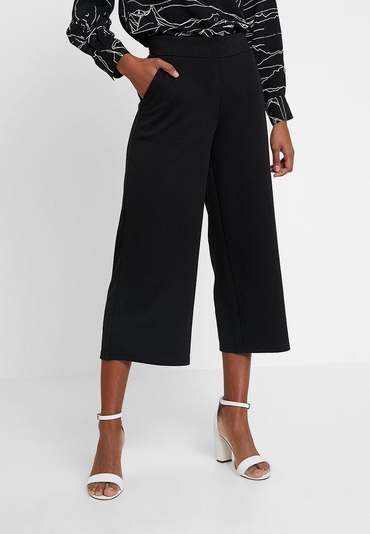 ICHI - X KATE CULOTTE PANTS - Trousers - black