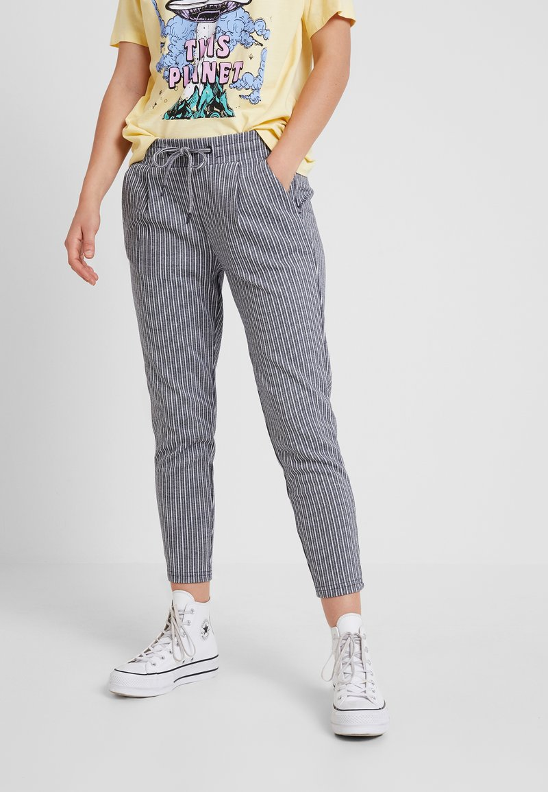 ICHI - KATE STRIPY TROUSERS - Trousers - total eclipse