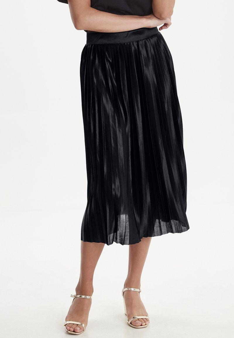 ICHI - IHPLEAT  - Spódnica trapezowa - black