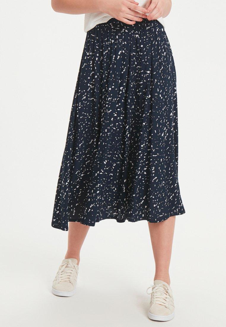 ICHI - IHJENNI - Pleated skirt - dark blue