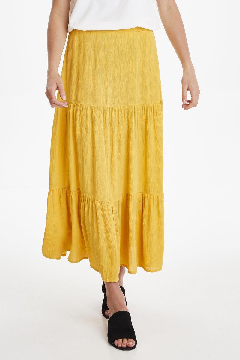 ICHI - IHMARRAKECH - Maxi skirt - old gold
