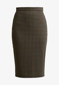ICHI - KATE HOUNDS SKIRT - Pouzdrová sukně - dark olive - 3