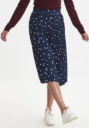 IHKALOLA - Veckad kjol - dark blue