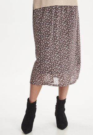 IXNAOMI SK - Pliceret nederdel /Nederdele med folder - russet brown