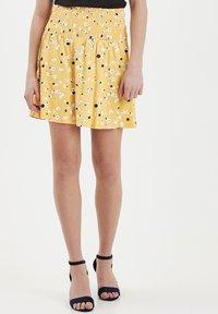 ICHI - IHLISA - A-line skirt - buff yellow - 0