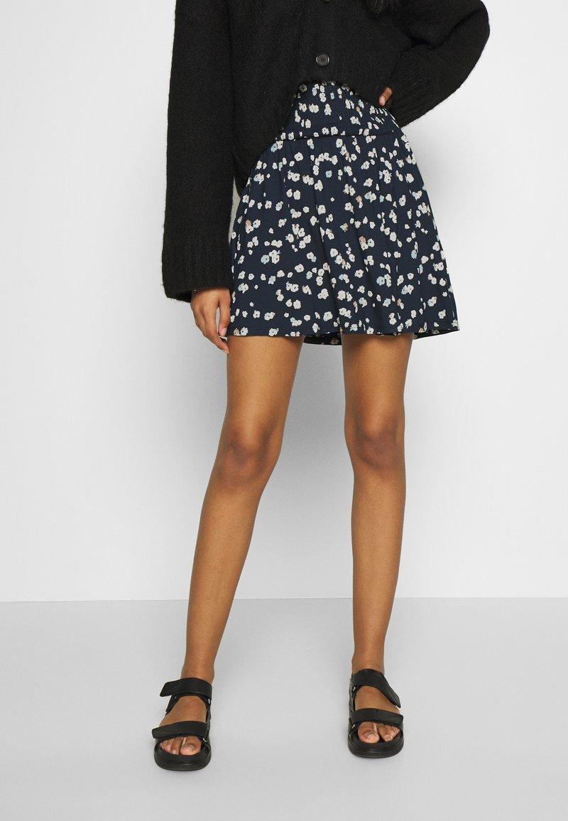 ICHI - IHLISA - A-line skirt - cool blue