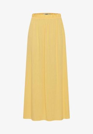 IHMARRAKECH - Pleated skirt - buff yellow