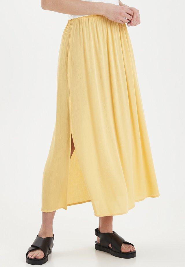 IHMARRAKECH - Pliceret nederdel /Nederdele med folder - buff yellow