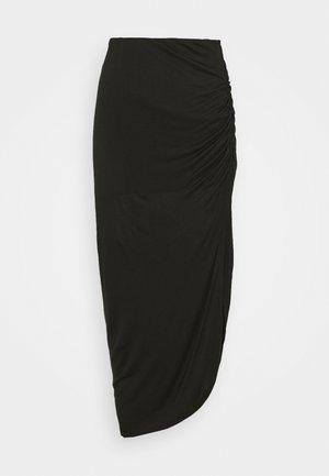 LUNA - Pouzdrová sukně - black solid