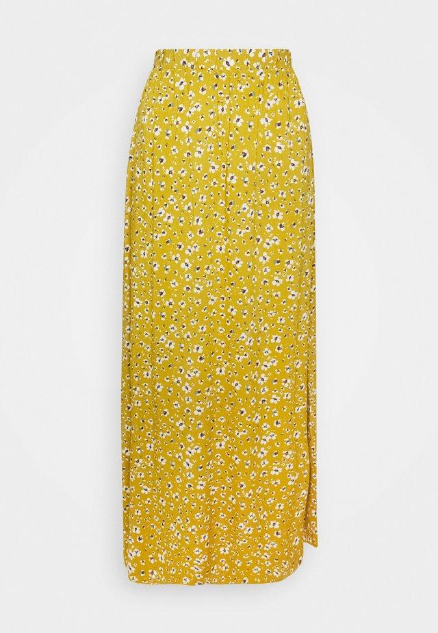 IHVERA - Maxi skirt - bronze