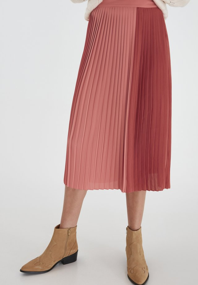 A-line skirt - dusty cedar