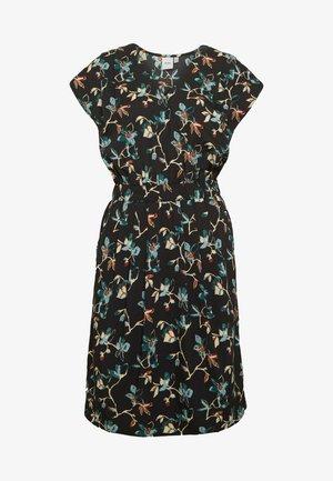 BRUCE - Robe d'été - black dark/florals combo