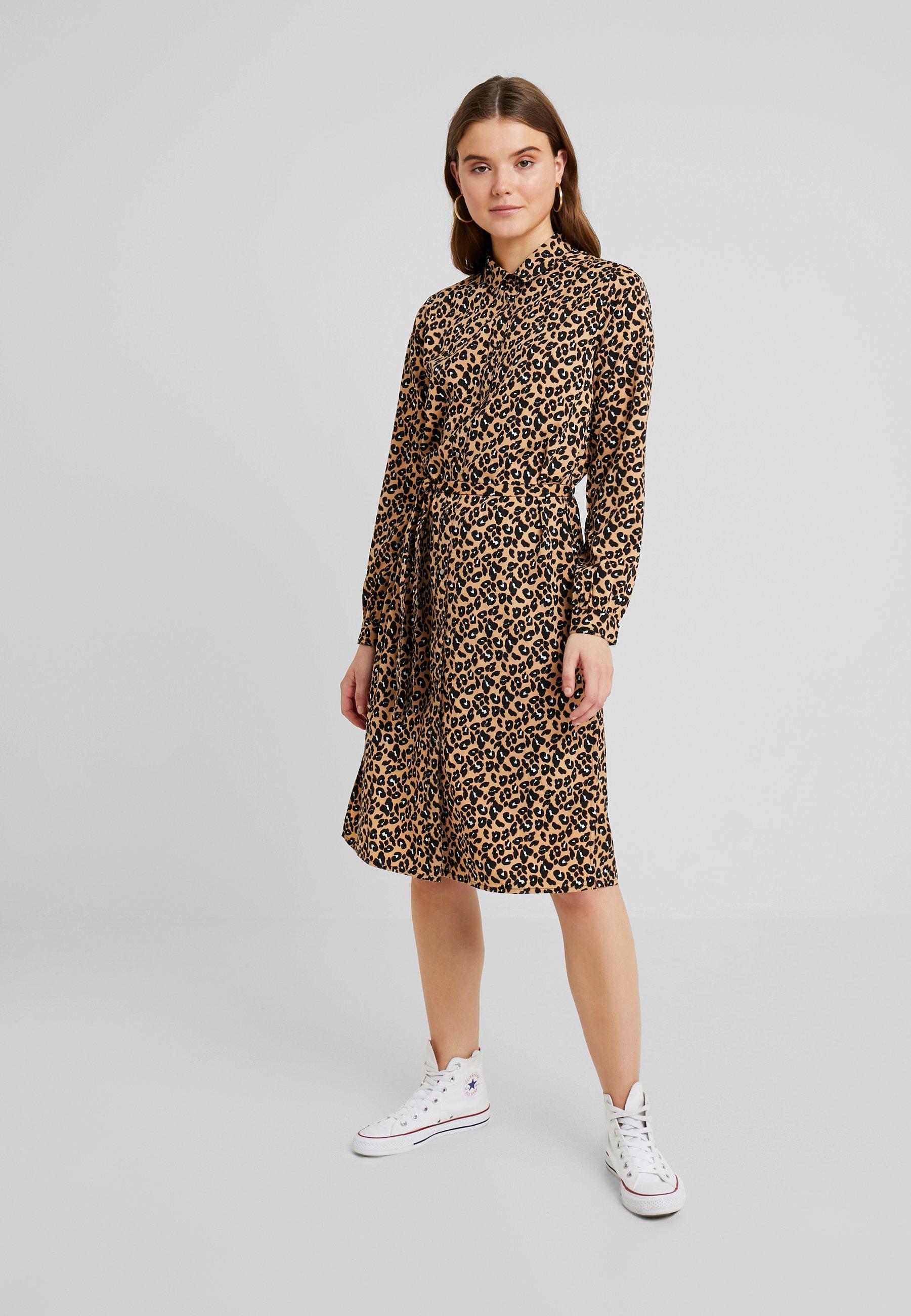ICHI Robe chemise - marron doe