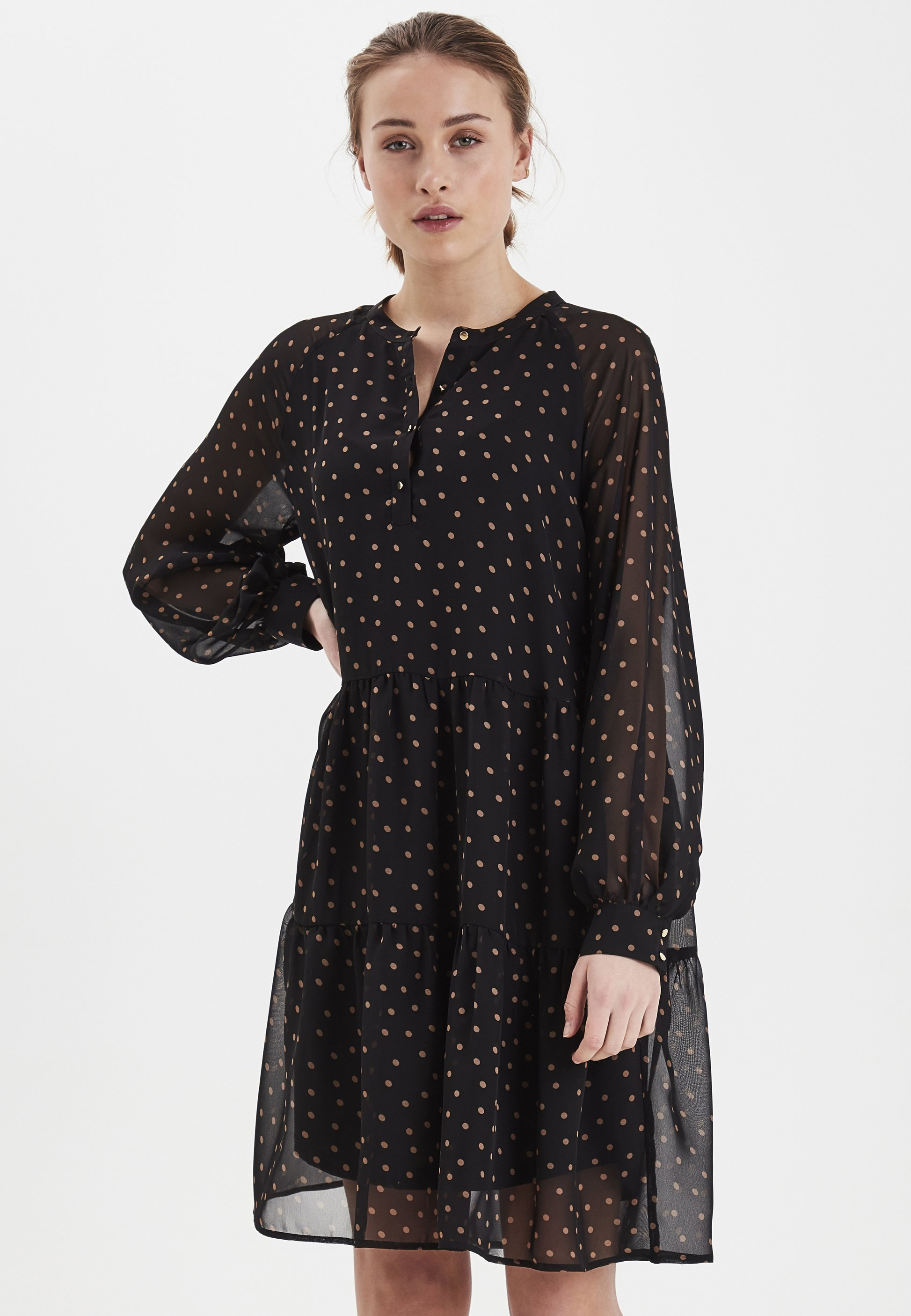 IXDARMA Korte jurk light brown