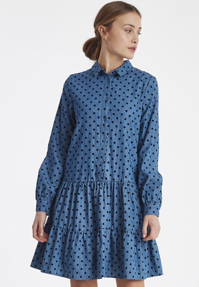 IHBEKKASIN - Shirt dress - dark blue
