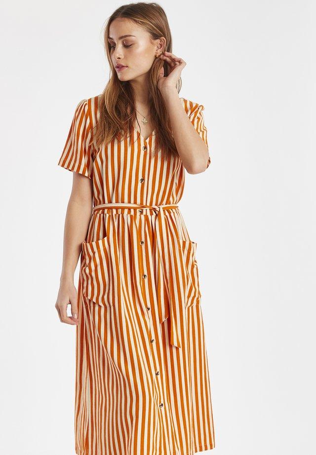 Shirt dress - jaffa orange