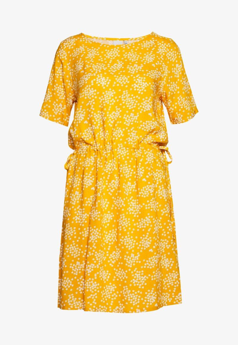 ICHI - VERA - Day dress - golden yellow