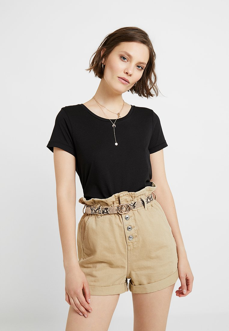 ICHI - LUNA - T-Shirt basic - black