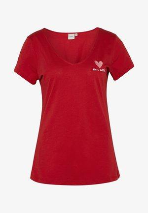 IHROBERTA - T-shirt z nadrukiem - scarlet sage