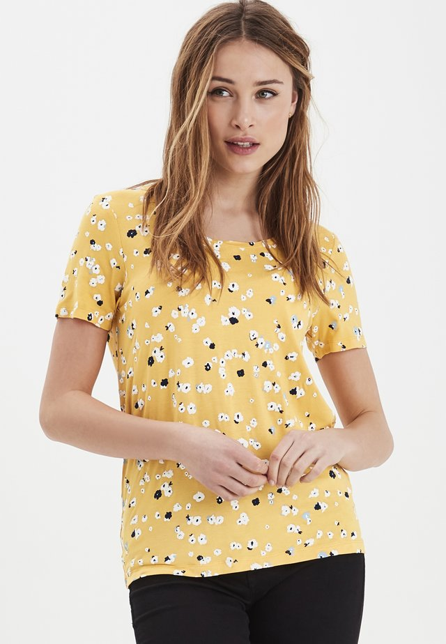 IHLISA  - Print T-shirt - buff yellow