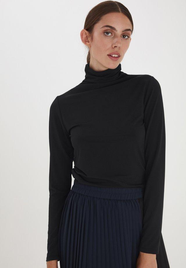 IHKIRSTA LS - Langærmede T-shirts - black