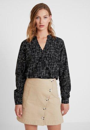 VERA - Button-down blouse - black
