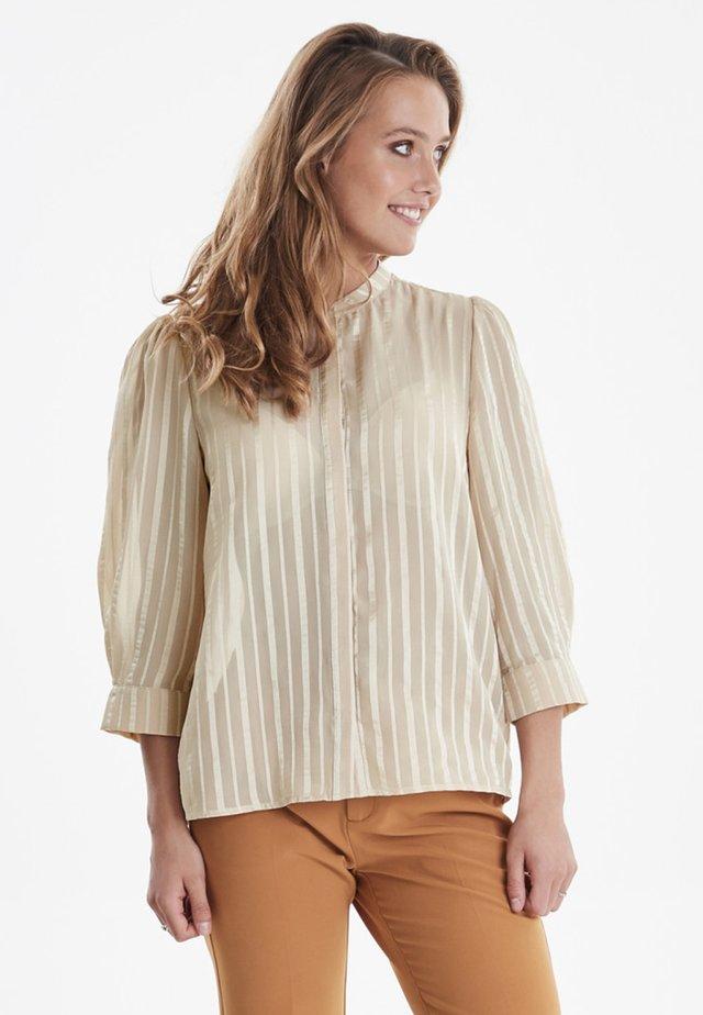 IXDONNA - Button-down blouse - tapioca