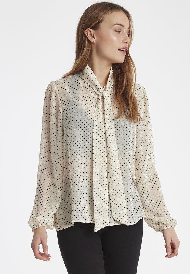 IXMYLO - Button-down blouse - cloud dancer