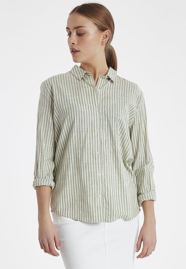 IHTULLE SH - Button-down blouse - malachite green
