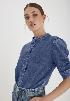 Bluse - medium blue