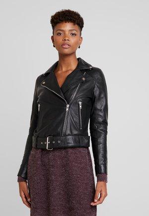 SATORI - Veste en cuir - black