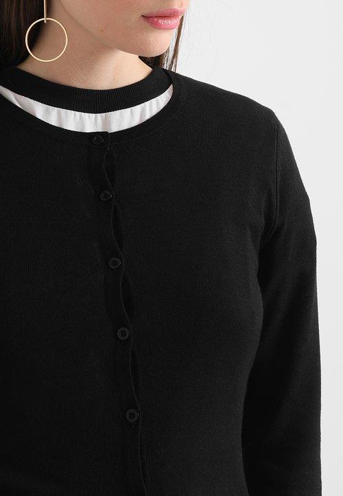 ICHI MAFA - Kardigan - black Odzież Damska FPFS-NV9 trwałe modelowanie